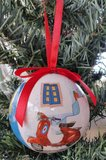 Kerstbal Griekse Deur (Plastic)_