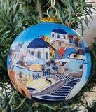 Kerstbal Kerkjes (Glas)_