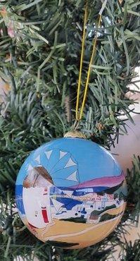 Kerstbal Molen (glas)