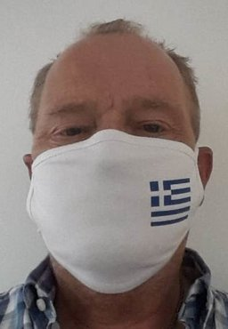 Mondmasker Griekse Vlag