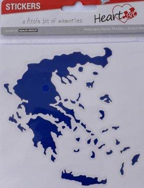 Autosticker Landkaart Griekenland