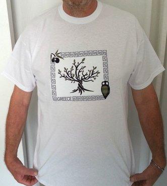 T-shirt Olijf