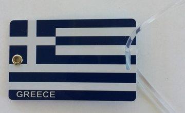 Kofferlabel Griekse Vlag