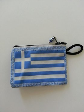 Money/Make-up Wallet Greek Flag