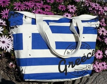 Bag Greek Flag White