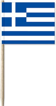 Cocktail Picks Greek Flag