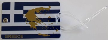 Luggage Label Greek Flag
