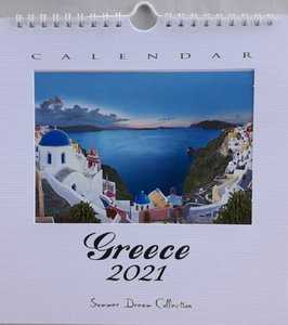 Kalender 2021 Greece Groot