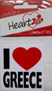 Sticker I Love Greece
