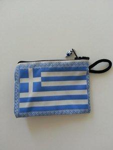 Geld-/Make-up beursje Griekse Vlag